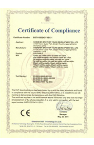 CE Certificate For Lan Cable