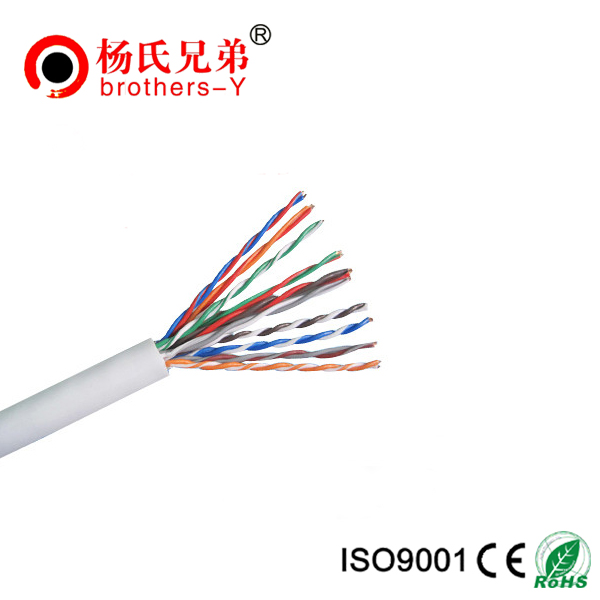 New material PVC jacket indoor cat3 telephone cable