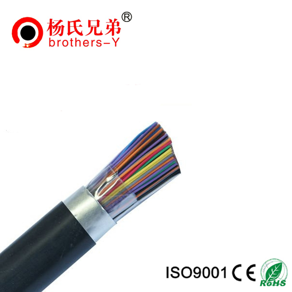 Armoured 100 pair aerial telephone cable