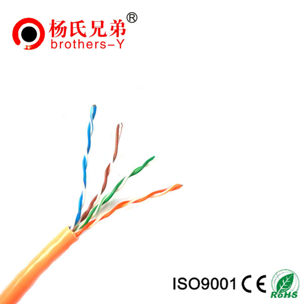 Unshield twisted pair cat5e telecom cable
