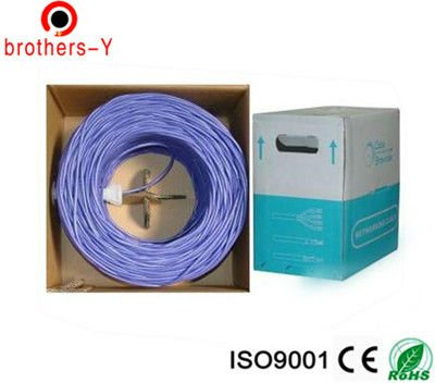 CCAU 40% copper cat 5e lan cable from professional manufactorer