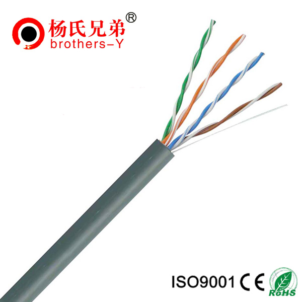 24awg 4pair copper PVC insulated cat5e cable 305m