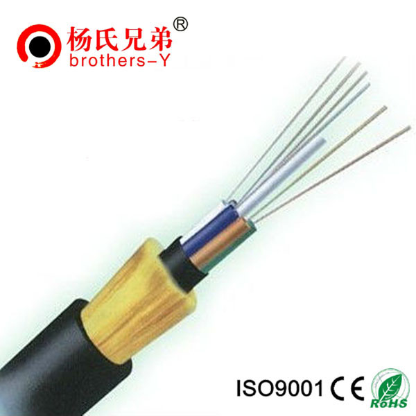 100m span armamid yarn ADSS fiber optical cable