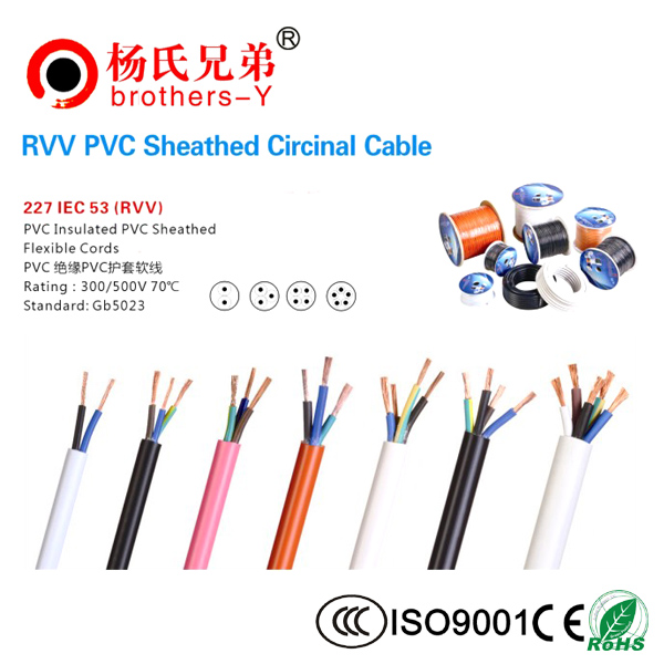 RVV PVC Insulated Flexible Power Cable