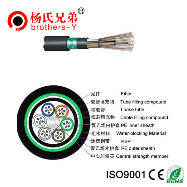 36 Core Single Mode Fiber Optic Cable GYTY53